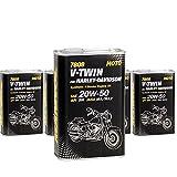 MANNOL 5 x 1L 7808 V-Twin for Harley-Davidson 20W-50 API SM/4-Takt Motoroel JASO MA2