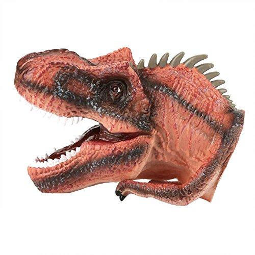 Fdit Soft Dinosaurier Kopf Handpuppe Kinder Kind Geschichten Rolle Spielen interessante Spielzeug Handschuh(c)