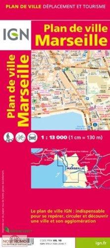 Marseille Plan de Ville 1:13 000 IGN Map par Institut Geographique National