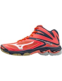 Mizuno Wave Lightning z3mid, FCoral/White/SYellow, 42.5