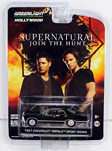 greenlight-hollywood-supernatural-join-the-hunt-diecast-car-1967-chevrolet-impala-sport-sedan-164-sc
