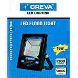 Oreva ORFLD-15W 15-Watt Outdoor Flood Light (White, Square)