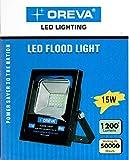 #2: Oreva Branded 15W LED Outdoor Flood Light White Focus Waterproof IP65 SMD Bulb 15 Watt 240V 50,000 Hours Long