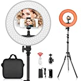 FOSITAN 14-inch Ring Light Kit, 42W 5500K 180 LED Dimmable Camera Photo Video