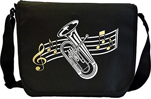 Euphonium Curved Stave - Sheet Music Document Bag Musik Notentasche MusicaliTee
