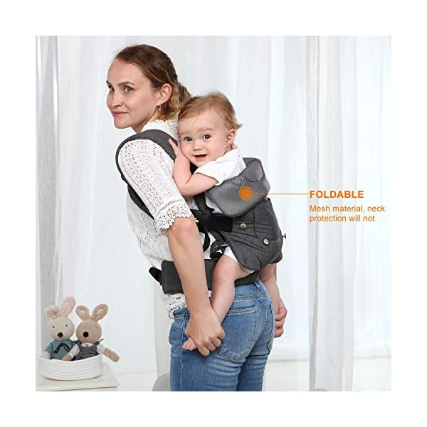 Xatan Baby Convertible Carrier, All Carry Position Newborn to Toddlers Ergonomic Carrier with Soft Breathable Air Mesh and All Adjustable Buckles Xatan ERGONOMIC CARRIER -- The premium quality baby carrier provides a convertible, ergonomic, facing-in/out,back carry etc different seat position, which offers the baby comprehensive care and support and also can help parents or carer free hands to do other work. PREMIUM QUALITY -- The Ergonomic Carrier is specialized customized with high quality and fine workmanship.Every details was revised repeatly! We are committes to offer the comfortable caring for your babies! COMFORTABLE HEAD/LEG SUPPORT -- The head and thigh support part can be adjusted according to the baby's body! The baby carrier will make sure the padded head support will hold small infants comfortably! 5