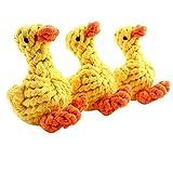 Vikenner Katze und Hund Baumwolle Seil Spielzeug Cute Ente Spielseile für Kleine/Mittlere Katze und Hund Zähne sauber Kugeln 12 * 8cm