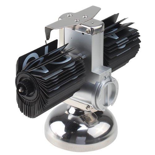 Gearmax Retro Clock Schlag unten Uhr Flip Clock Interne Getriebe betrieben Internal Gear Operated Metall Schwarz