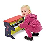 Melissa & Doug Learn-to-Play Piano (Musical Instruments, Solid Wood Construction, 25 Keys and 2 Full Octaves, 29.21 cm H x 24.13 cm W x 40.64 cm L)