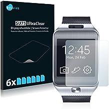 [6-Unidades] Savvies Protector Pantalla para Samsung Galaxy Gear 2 Neo SM-R381- Transparente