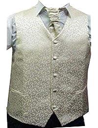 Hommes Crème Paisley ensembles de mariage de gilet (ref:cream paisley waistcoat)