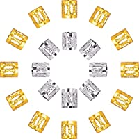 Dreadlocks Beads Anillos de Rastas de Aluminio Decoración de Pelo, 50 Piezas