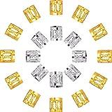 Polsino Manette in Metallo Alluminio dei Capelli Arricciati Acconciatura Rasta Decorazione di Capelli Gioielli, 50 Pezzi