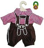 Unbekannt 2 tlg. Set Puppenkleidung Trachtenhose + Hemd Gr. 35 - 45 cm Kniebundhose - incl. Haargummi für die Puppenmutti - für die Puppe - Kleidung Bekleidung Puppenbekleidung für Jungen