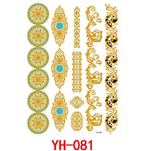 zgmtj Bronzage d'autocollant de tatouage imperméable à l'eau en métal YH-081 14.8 * 21cm -