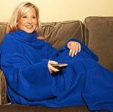 Cosy Snuggle Fleece Blanket With Sleeves Blue