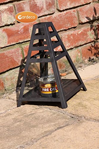 Garden Outdoors Or Indoors Pyramid Fire Gel Burner Heater Including One Tin Of Fire Gel