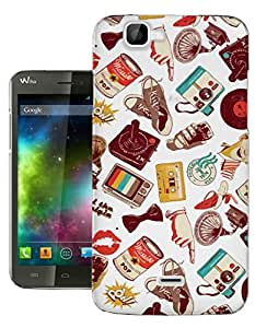 c0144 - Retro Stickerbomb Multi collection Design Wiko Rainbow Fashion Trend Protecteur Coque Gel Rubber Silicone protection Case Coque
