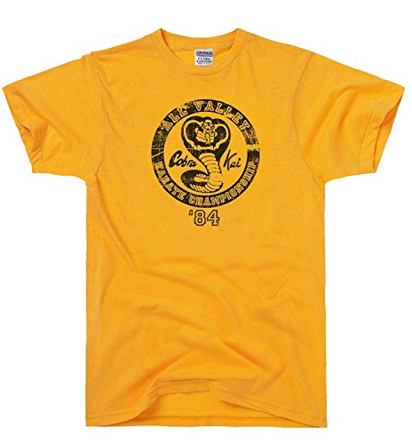 51VqKsZJV5L - Camiseta naranja All Valley Karate Championship 1984