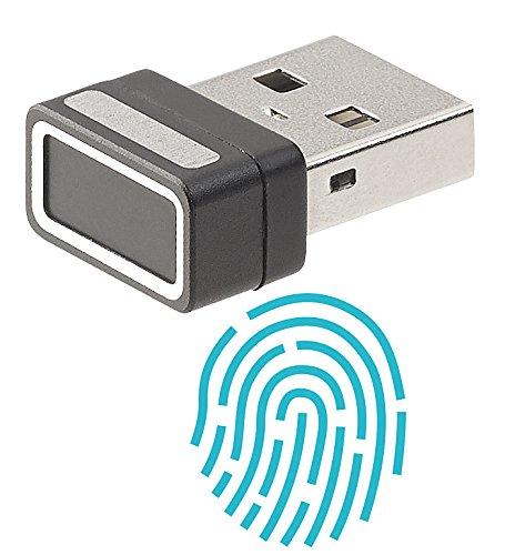 Xystec Fingerabdrucksensor: Kleiner USB-Fingerabdruck-Scanner für Windows 10, 10 Profile (Fingerabdruckscanner Windows 10)