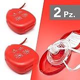 AIESI® Pocket Mask maschera di rianimazione per respirazione bocca a bocca CPR Mask-Resuscitator (2 pezzi)