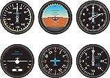 6x selbstklebend Sticker MacBook Auto Flugzeug Luftfahrt Aeroport Zähler Cockpit