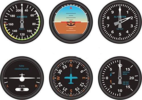 Preisvergleich Produktbild 6 x selbstklebend Sticker MacBook Auto Flugzeug Luftfahrt Aeroport Zähler Cockpit