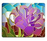 luxlady Caucho Natural Gaming Mousepads Vidriera Purple Tulip Ilustración Imagen ID 25637485