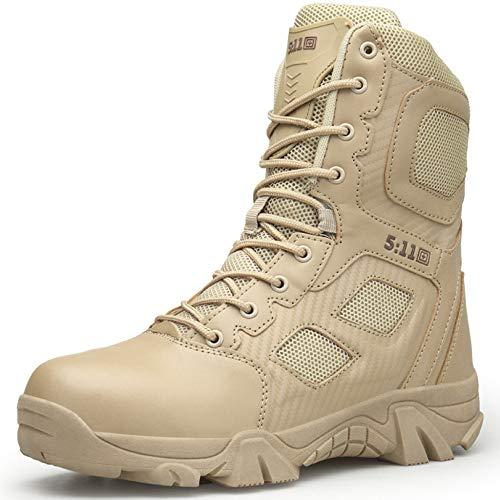 aef52415618d7 Botas para Hombre High High Leather Martin Boots Chukka Military Combat  Boots Zapatos para Caminar Al