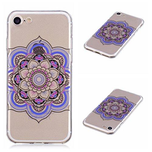 iPhone 7/iPhone 8 4.7 Hülle, Voguecase Silikon Schutzhülle / Case / Cover / Hülle / TPU Gel Skin Handyhülle Premium Kratzfest TPU Durchsichtige Schutzhülle für Apple iPhone 7/iPhone 8 4.7(Feder 07) +  Schnüren Teppiche 11