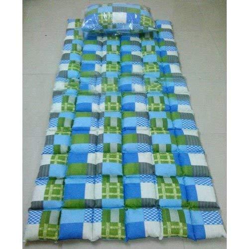 Jeysree Fashions Kapok Silk Cotton-Ilavam Panju Foldable Mattress, 6.25x2.5 ft, Blue