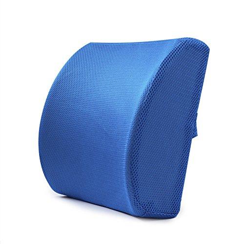 Injersdesigns Memory Foam Sedile mal di schiena Supporto migliorare la postura cuscino Auto Ufficio lombare (Vertebre Colonna Vertebrale)
