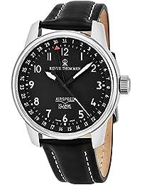 Revue Thommen Herren-Armbanduhr 41mm Armband Leder Automatik Analog 16050.2537