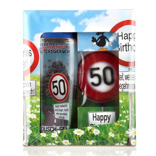 Lustapotheke® Geschenkset zum 50. Geburtstag (Duschgel und Handseife)
