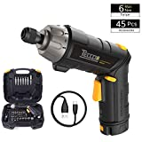 Best Electric Screwdrivers - Cordless Screwdriver, TECCPO 6Nm Electric Screwdriver 3.6V, Adjustable Review