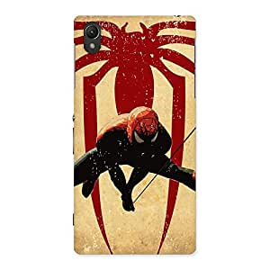 Hanging Web Multicolor Back Case Cover for Sony Xperia Z1