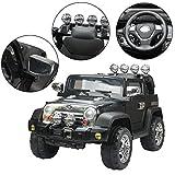 Homcom® Elektroauto Kinderauto Kinderfahrzeug Kinder Elektro Auto Fahrzeug Spielzeug (Jeep/schwarz)