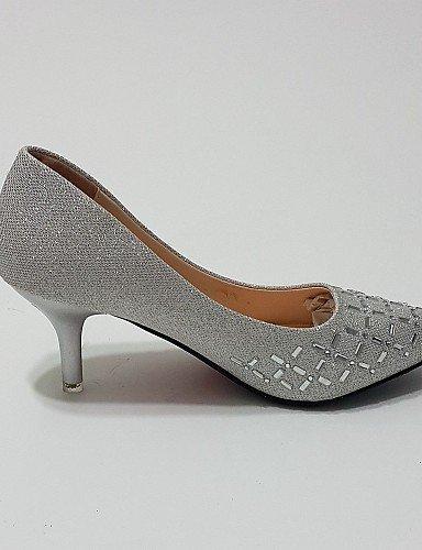 ShangYi Chaussures Femme - Mariage / Habillé / Soirée & Evénement - Argent / Or - Talon Aiguille - Talons / Bout Pointu - Talons - Paillette Silver