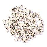 ZADAWERK Mini-Holzklammer - Natur - 3 cm - 100 Stück - Kleine Clips für Fotos zum Aufhängen...