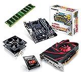 One PC Aufrüstkit | AMD FX-Series Bulldozer FX-4300, 4x 3.80GHz | montiertes Aufrüstset | Mainboard: Gigabyte GA-78LMT-USB3 | 4 GB RAM (1 x 4096 MB DDR3 Speicher 1600 MHz) | CPU Mainboard Bundle | Grafik: 2048 MB AMD Radeon R7 240, VGA, DVI, HDMI | komplett fertig montiert!