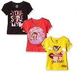 #4: Chhota Bheem Girls' T-Shirt (Pack of 3)