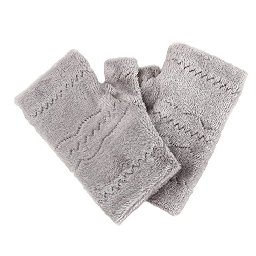 Sannysis Frauen-Winter-starke warme Leak Finger-Handschuhe (Grau)