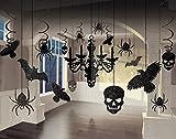 17 Glitzer Teile Halloween großes Dekorations Set