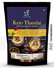 Leanbeing Keto Rose Thandai Premix 200Gm |Sugar-Free, Organic, Gluten-Free, Low Carb, Ultra-Low Gi, Vegan, Dia