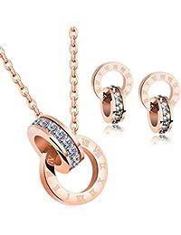 Señoras Colgante Collar Fabricados con Cristales Swarovski Juegos De Joyas para Mujer-Día de San