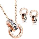 Señoras Colgante Collar Fabricados con Cristales Swarovski Juegos De Joyas para Mujer-Día de San Valentín Regalo (Joyas para)
