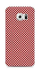 Amez designer printed 3d premium high quality back case cover for Samsung Galaxy S6 Edge (Pattern Red 2)