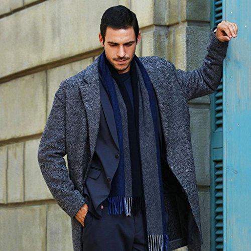 Schals Männlicher Winter Halten Sie warmes Britisches technisches einfaches stilvolles Geschäft der hohen Qualität der Deutschen Kopf- & Gesichtsbedeckungen (Color : G)
