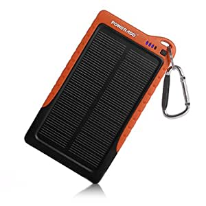 Poweradd Apollo 7200mAh Solar Charger Portable Charger Backup External Battery Pack for iPhone 6 Plus 6 5S 5C 5 4S 4, iPads, iPods, (Apple Adapter not Included) Samsung Galaxy S6 S5 S4, Note 4 3 2, Tablets, Bluetooth Speaker, PS Vita, PSP, MP3 Players, Gopro Camera, SmartPhones and More Other 5V-USB Devices - Black