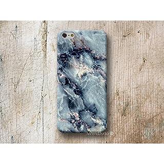 blau Marmor Handy Hülle Handyhülle für HTC U11 10 M9 M8 A9 desire 626 Sony Xperia XZ1 Z5 Z3 compact